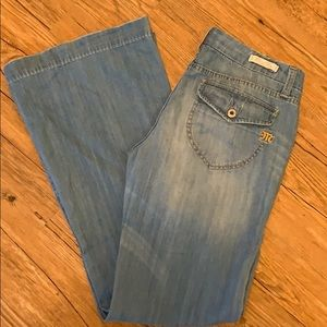 Miss Me Modelo boho wide/flare leg jeans sz 31 EUC